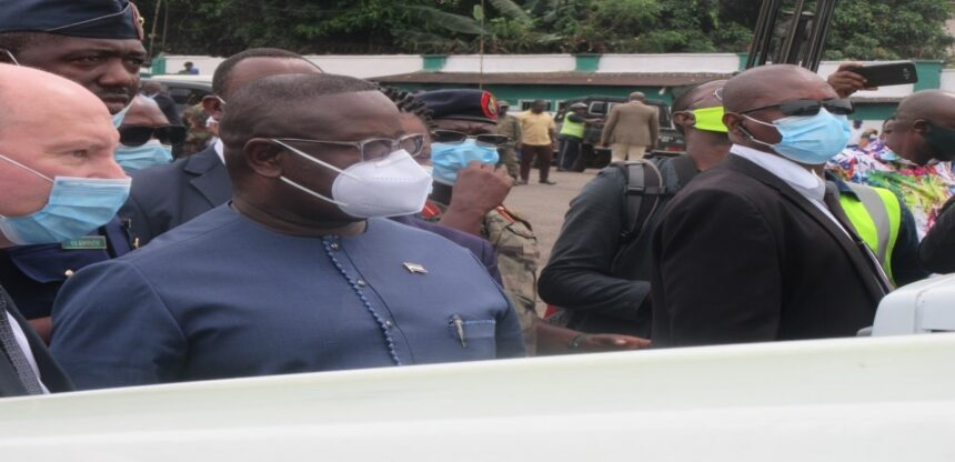 PRESIDENT BIO UNVEILS 50 DUMP TRUCKS DONATED BY THE RUSSIAN FEDERATION