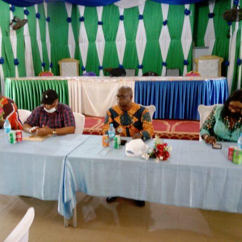 Minister Lamina addressing the Paramount Chiefs