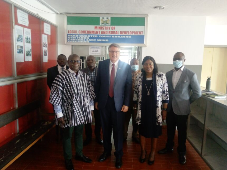 US AMBASSADOR TO SIERRA LEONE PAYS A COURTESY CALL ON LOCAL GOV'T MINISTER