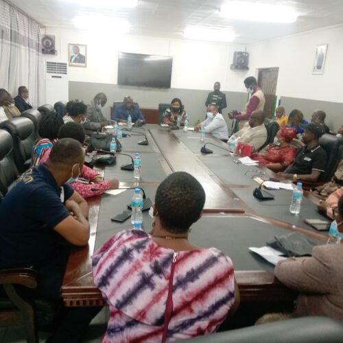 Minister Lamina, addressing the FCC Councillors